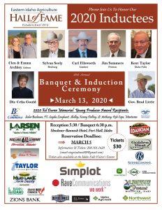 2020 EIAHF Reception & Banquet Poster